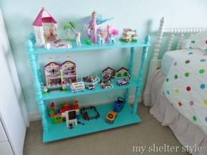 emma's turquoise bookcase